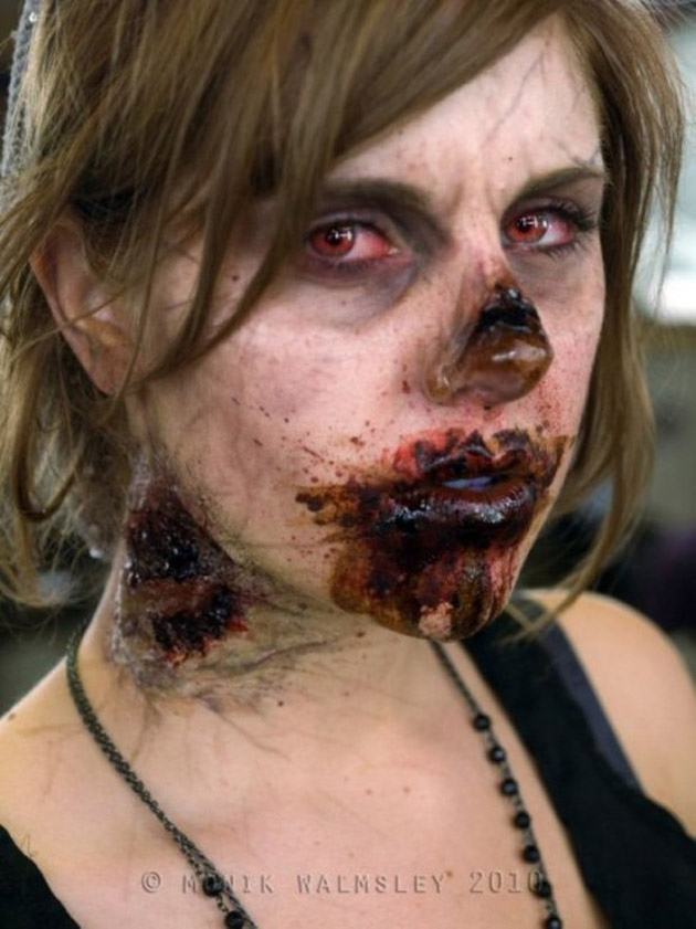 Photo de maquillage d'halloween
